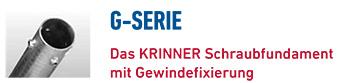 KRINNER Schraubfundamente G-Serie