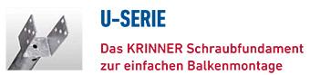 KRINNER Schraubfundamente U-Serie