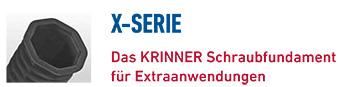 KRINNER Schraubfundamente X-Serie
