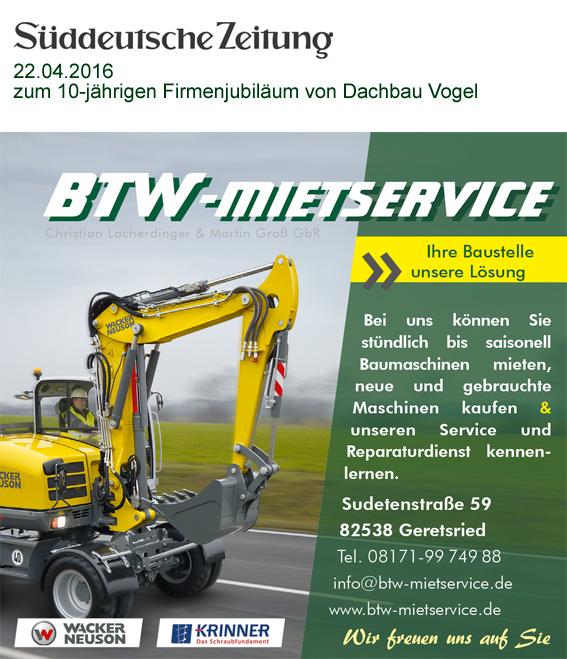 Sueddeutsche Zeitung BTW-Mietservice