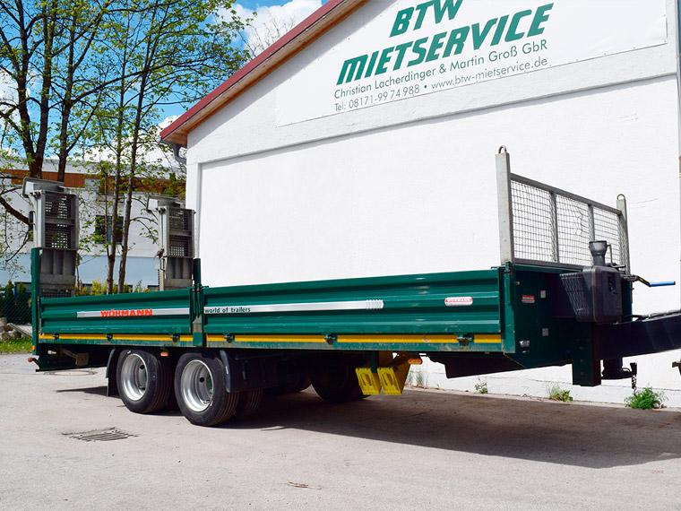 BTW-Mietservice LKW-Tieflader Wörmann 14t